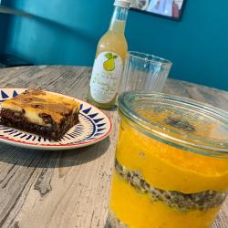 Bol carni et cheesecake brownie